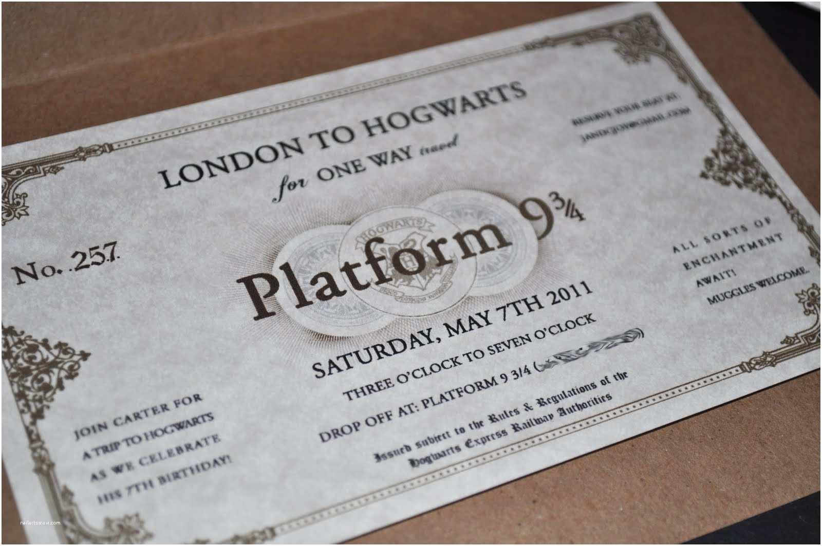 Harry Potter Party Invitations Serendipity Design Studio Sneak Peek the Final