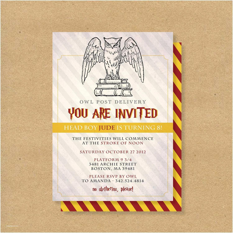 Harry Potter Party Invitations top 18 Harry Potter Birthday Party Invitations