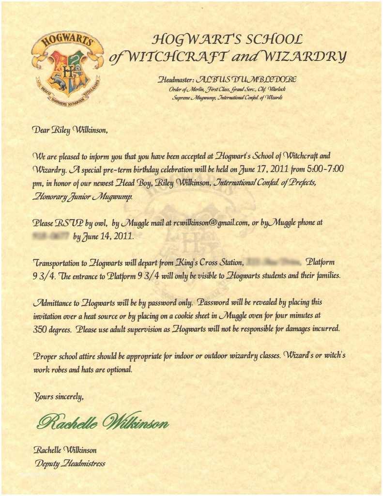 Harry Potter Party Invitations Wilkinsonquints Riley S Harry Potter Birthday