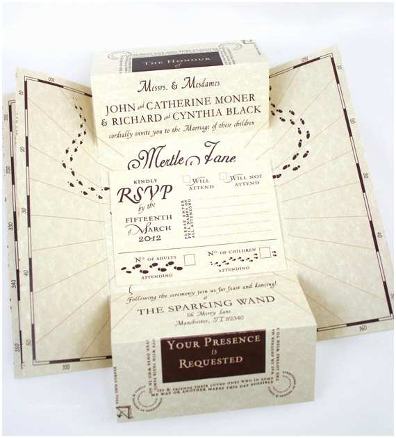 Harry Potter Wedding Invitations Harry Potter Inspired Wedding Invitation Suite