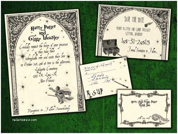 Harry Potter Wedding Invitations Harry Potter Quidditch Wedding Invitation Save the Date