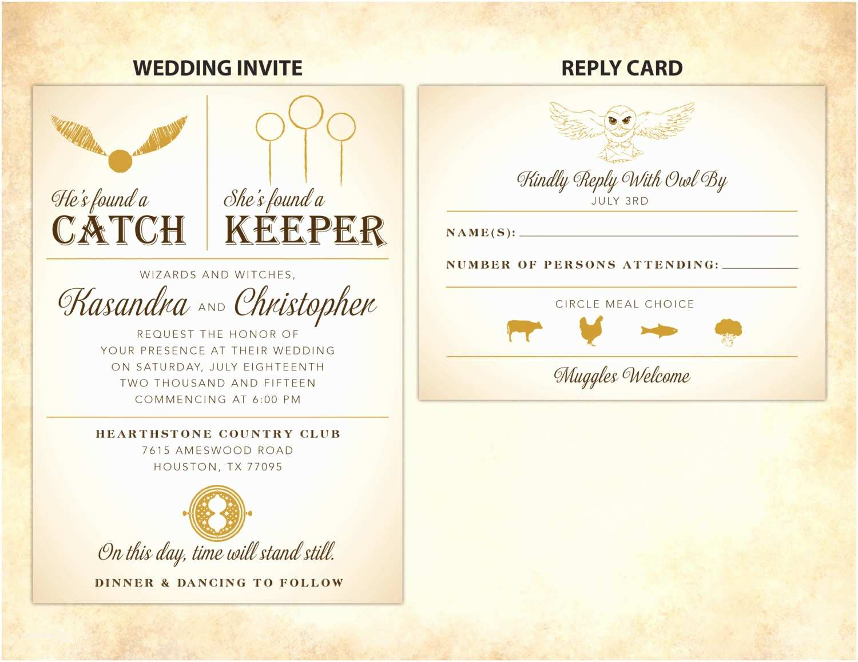 Harry Potter Wedding Invitations Harry Potter Wedding Invitation Diy Printable