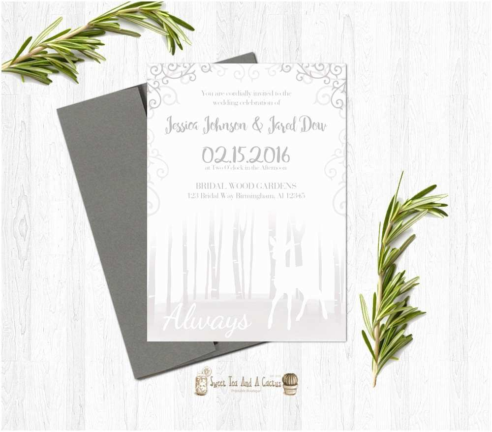 Harry Potter Wedding Invitations Harry Potter Wedding Invitation Printable Deer after All