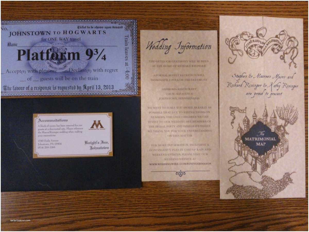 Harry Potter Wedding Invitations Our Harry Potter Wedding Custom Invitations
