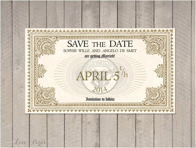 Harry Potter Wedding Invitations Wedding Invitation Harry Potter Save the Date Train Ticket