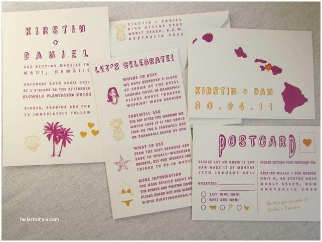 Hawaii Wedding Invitations 1000 Images About Hawaiian Wedding Invitations