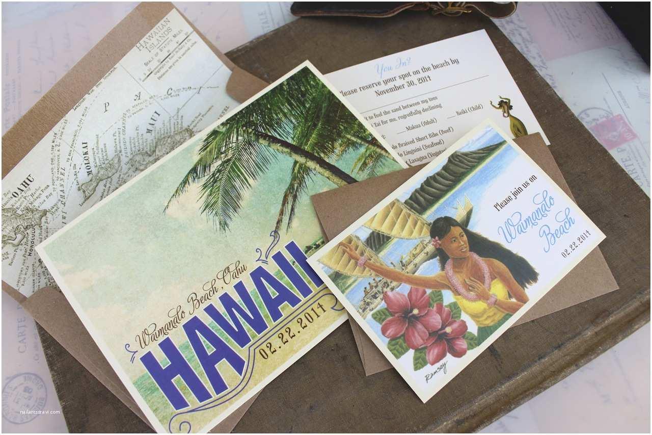 Hawaii Wedding Invitations Elegant Hawaiian Wedding Invitations