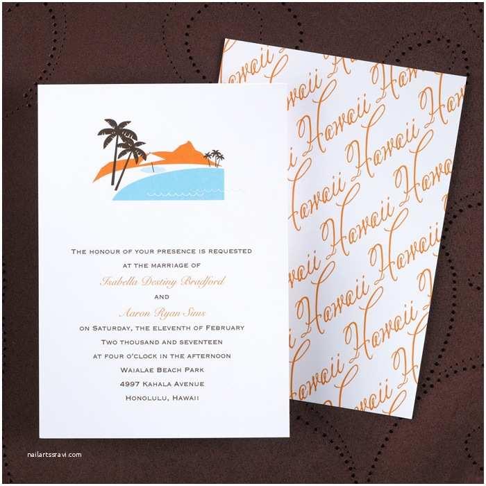 Hawaii Wedding Invitations Floral Rustic Vintage Wedding Invitations Little