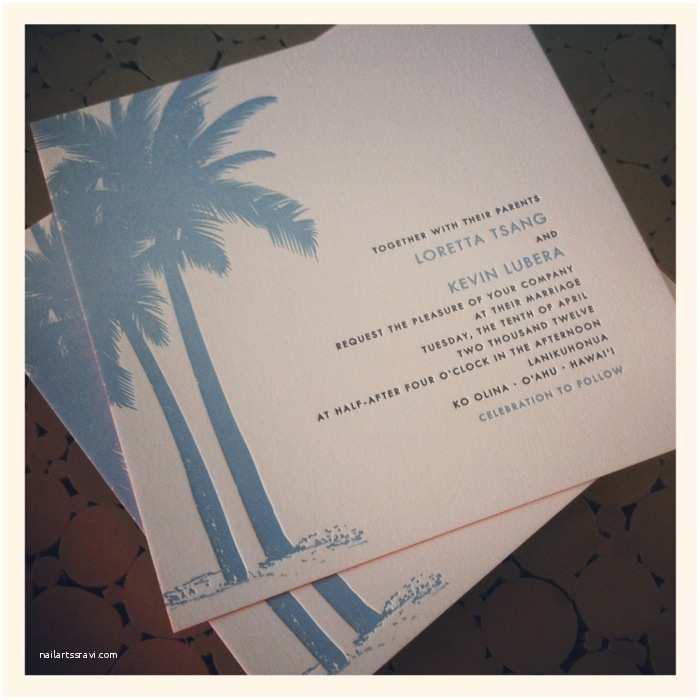 Hawaii Wedding Invitations Hawaii Wedding Invitations Custom Letterpress