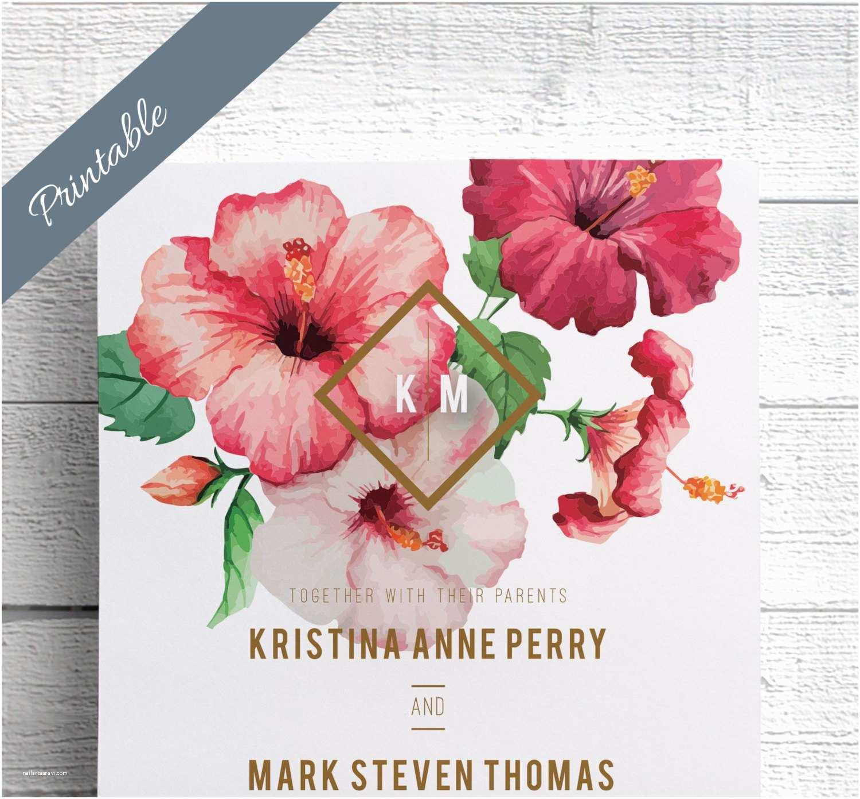 Hawaii Wedding Invitations Hawaiian Wedding Invitations Printable By