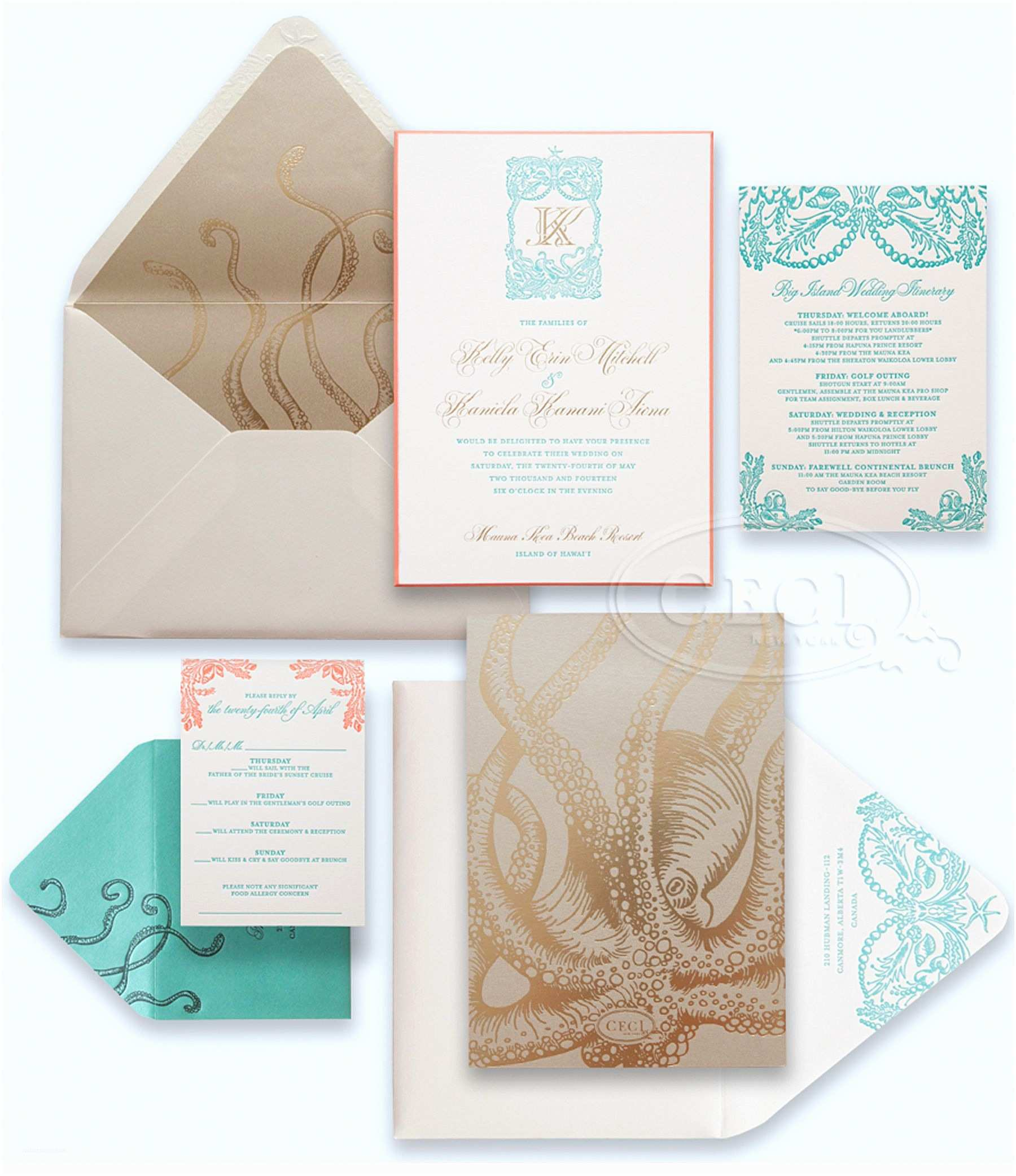 Hawaii Wedding Invitations Luxury Wedding Invitations By Ceci New York Our