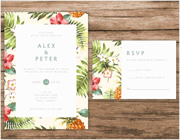 Hawaii Wedding Invitations the 25 Best Hawaiian Invitations Ideas On Pinterest