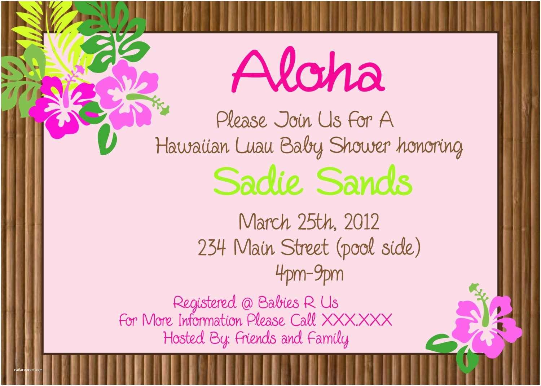 Hawaiian Party Invitations Hawaiian Luau Party Printable Invitation