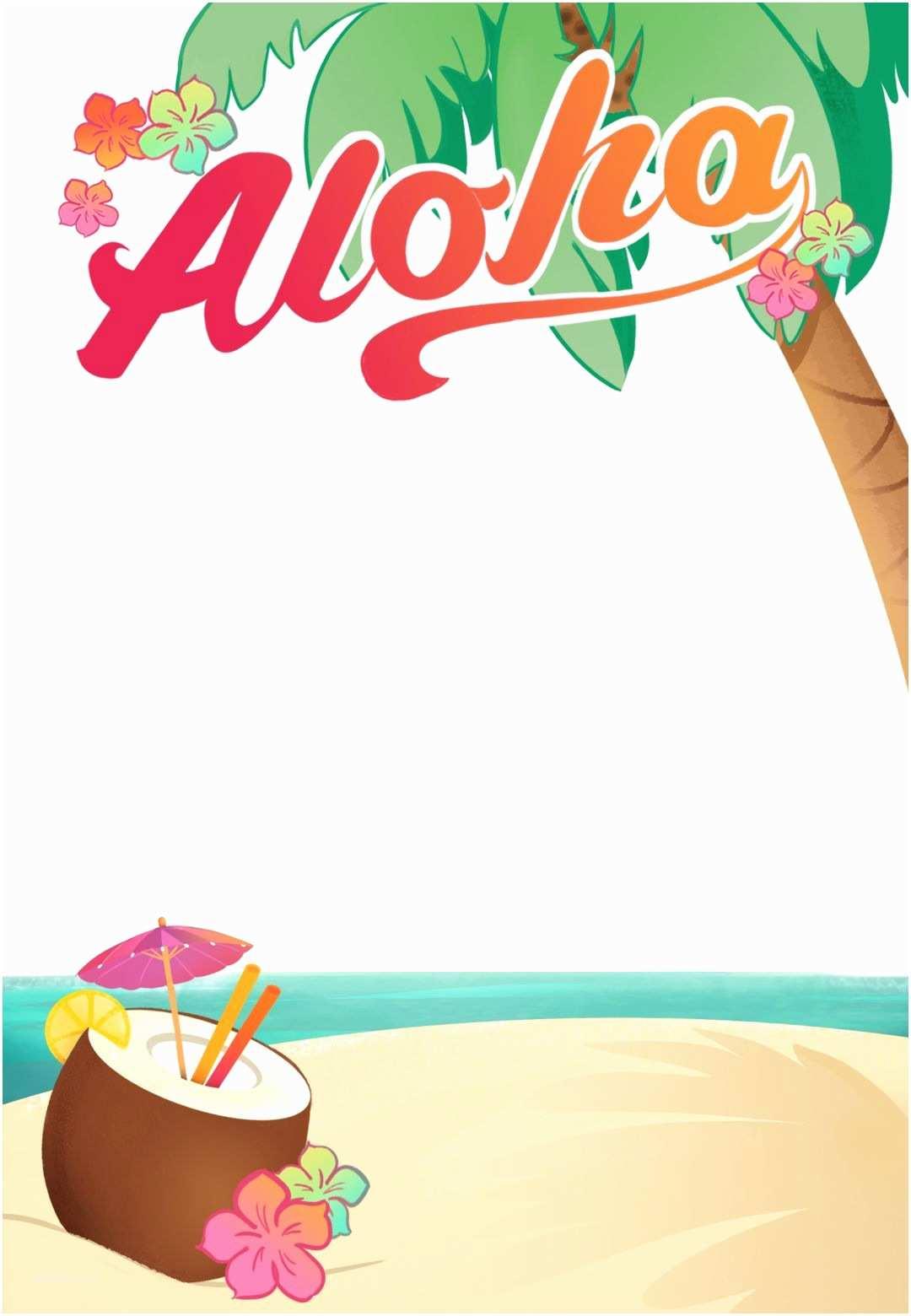 Hawaiian Party Invitations Luau Party Free Printable Summer Party Invitation