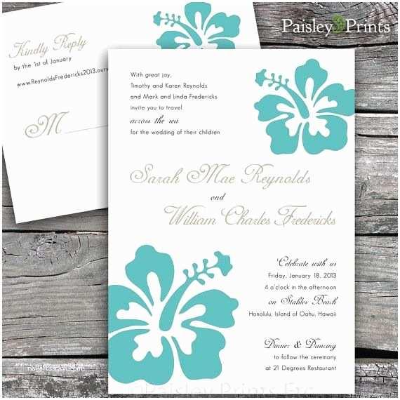 Hawaiian Wedding Invitations Best 20 Hibiscus Wedding Ideas On Pinterest