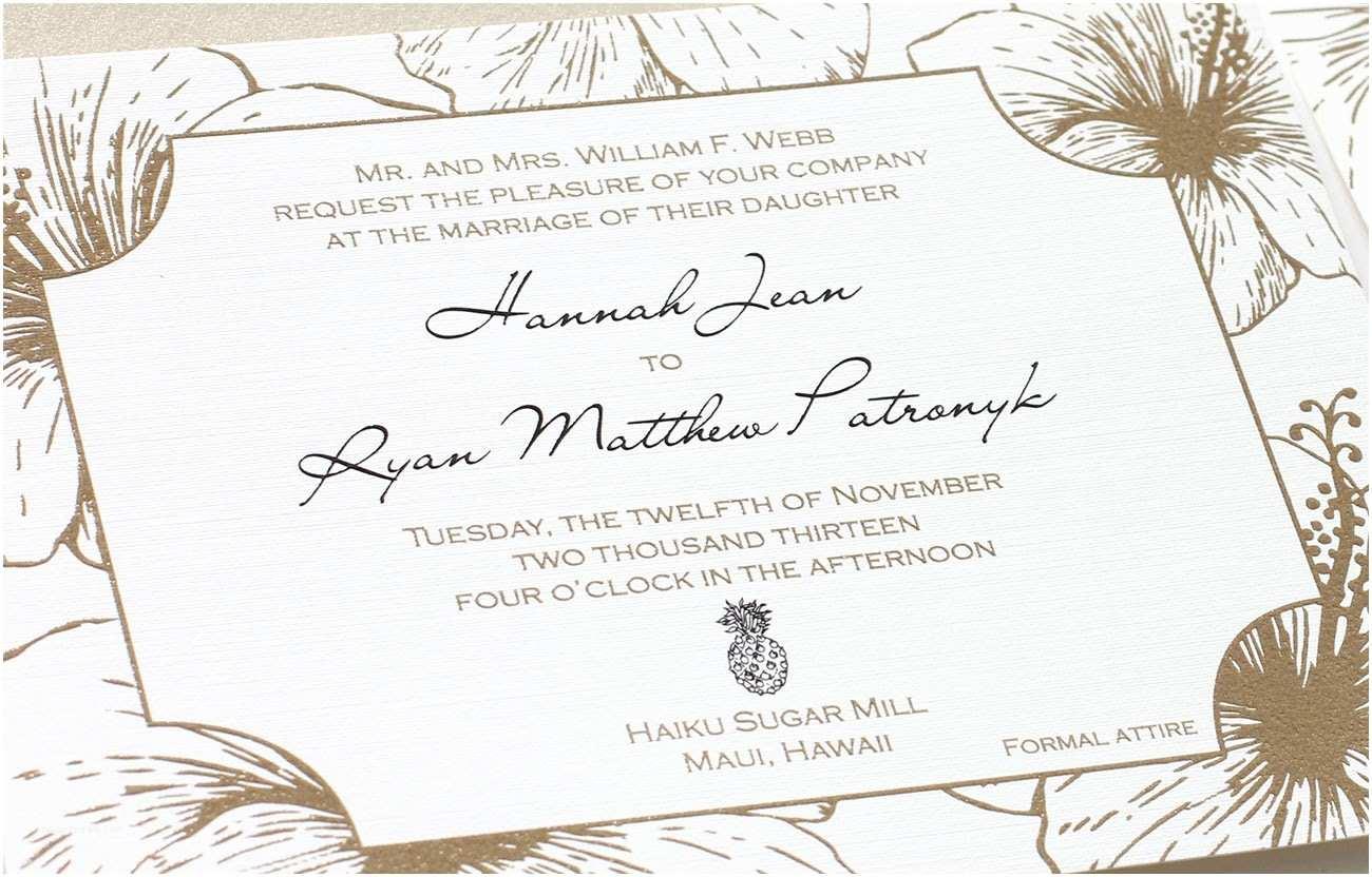 Hawaiian Wedding Invitations Hawaiian Wedding Invitation Wording Home Design