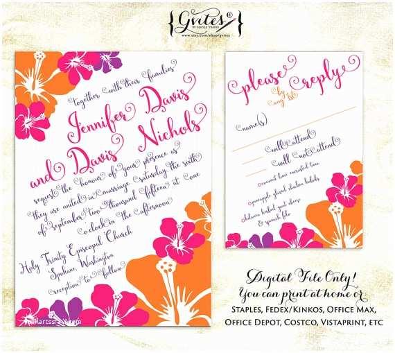 Hawaiian Wedding Invitations Hawaiian Wedding Invitations Luau Wedding Invitation by Gvites
