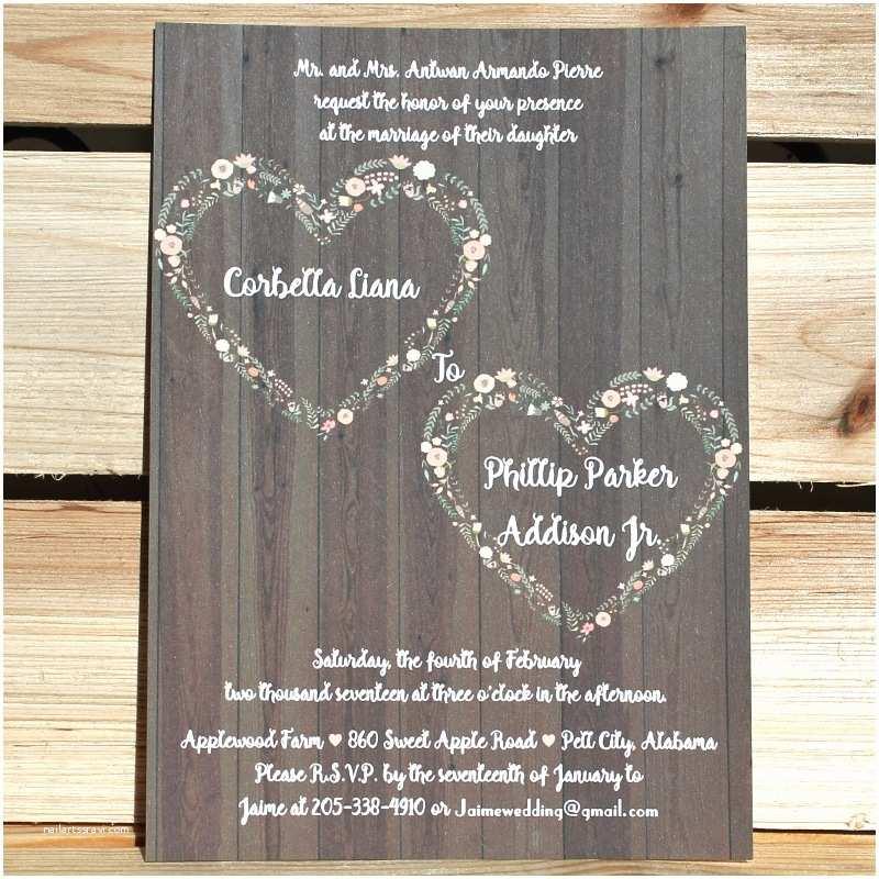 Heart Wedding Invitations 10 Affordable Rustic Valentine S Day Wedding Invitations