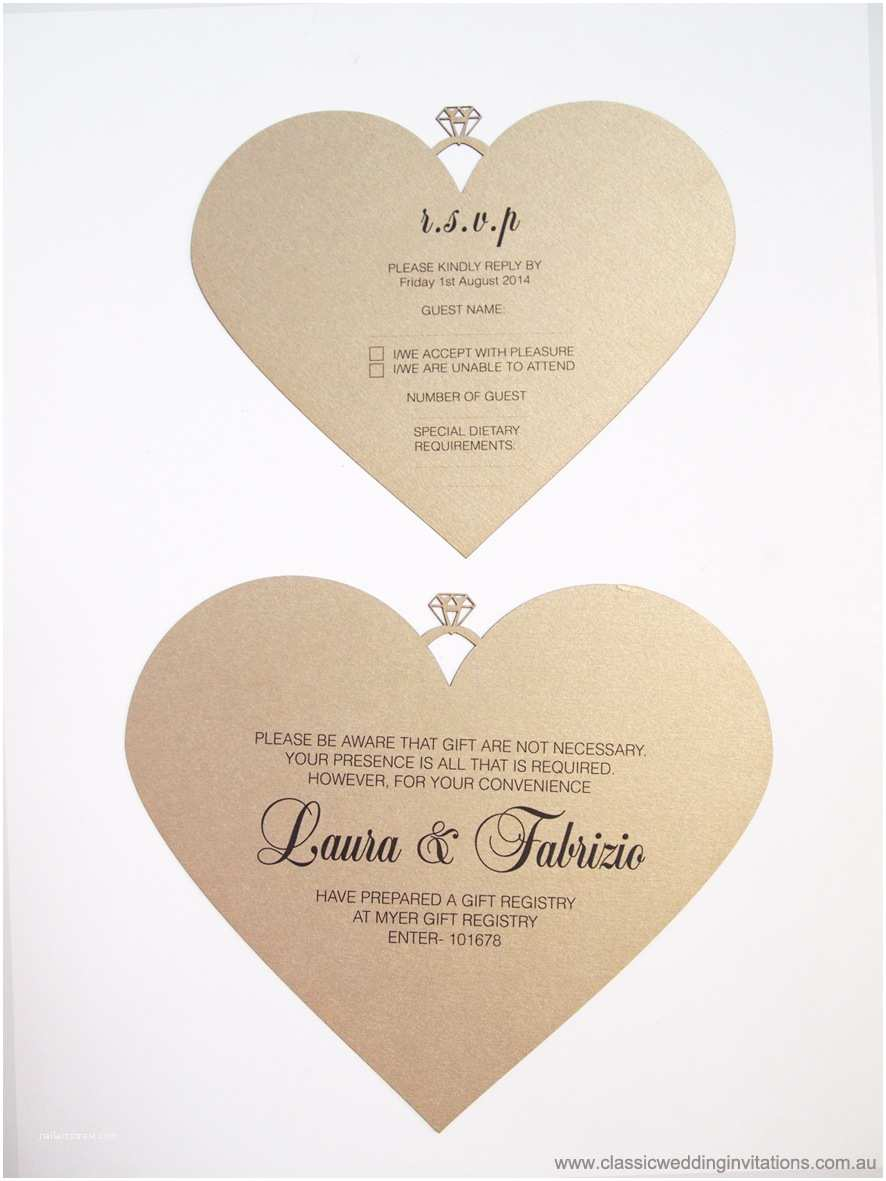 Heart Wedding Invitations Classic Wedding Invitations Country Wedding Invitations