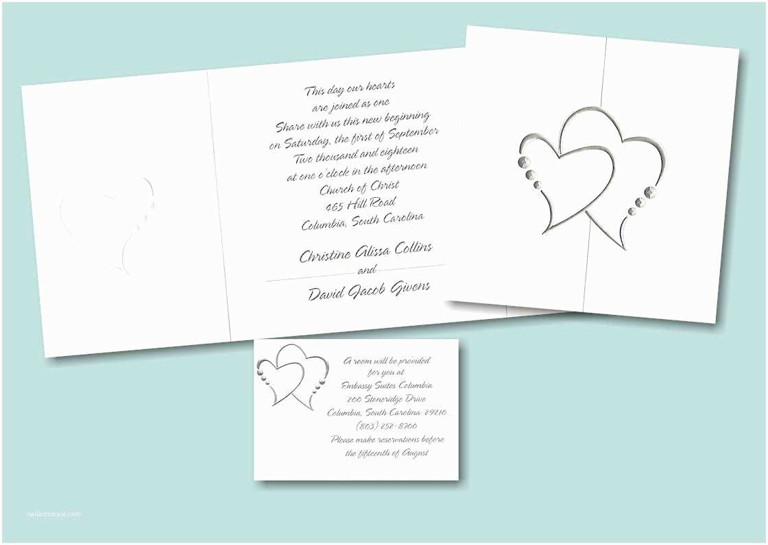Heart Wedding Invitations Heart Wedding Invitations Yaseen for