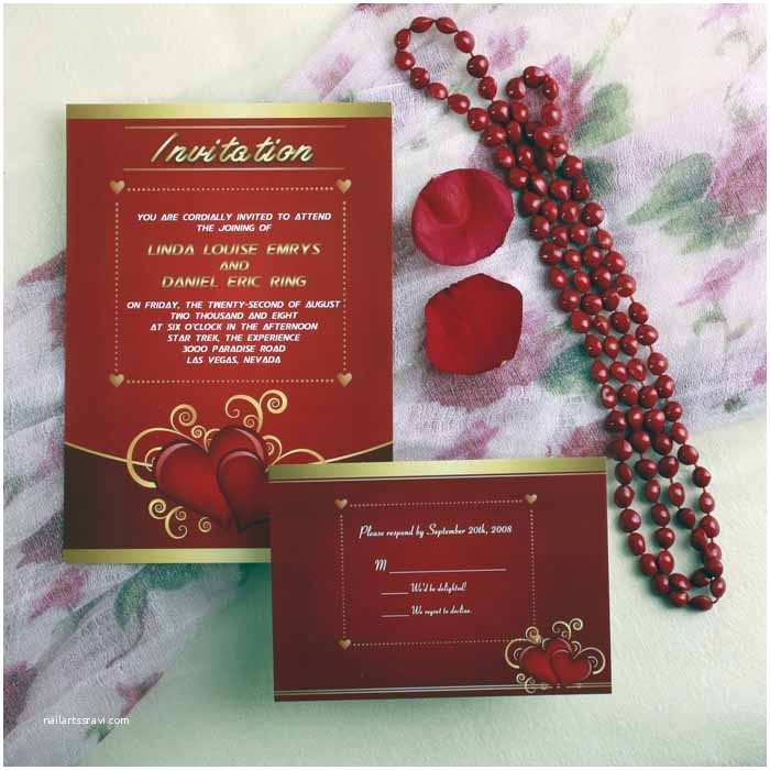 Heart Wedding Invitations Inexpensive Heart Vintage Red Wedding Stationery Ewi170 as