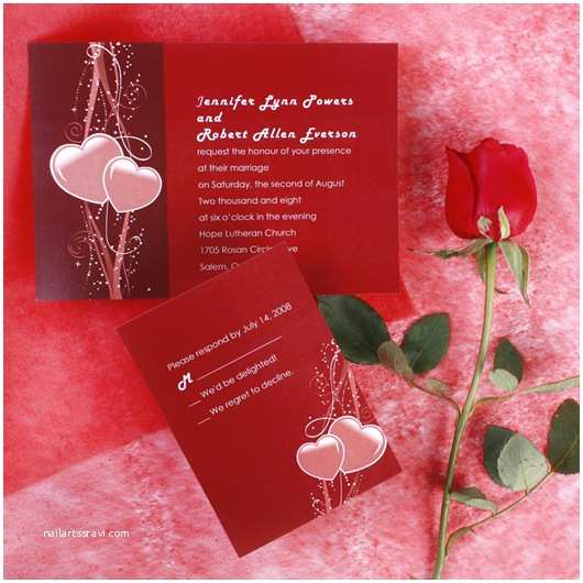 Heart Wedding Invitations top 20 Valentine's Day Inspired Unique Wedding Ideas and
