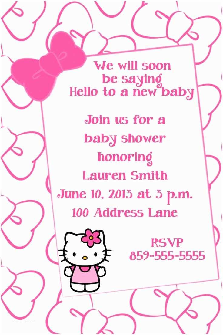 Hello Kitty Baby Shower Invitations 11 Best Hello Kitty Baby Shower Images On Pinterest