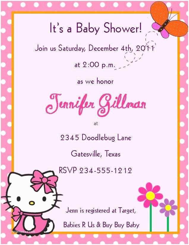 Hello Kitty Baby Shower Invitations Baby Shower Invitations Hello Kitty Party Xyz