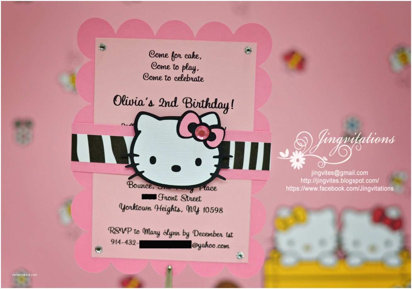 Hello Kitty Baby Shower Invitations Birthday and Baby Shower Invitations Hello Kitty Birthday