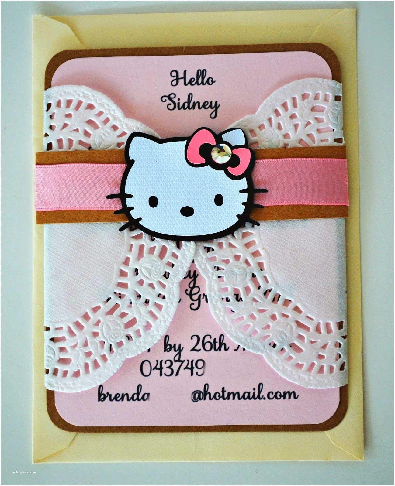 Hello Kitty Baby Shower Invitations Birthday and Baby Shower Invitations Hello Kitty Doily
