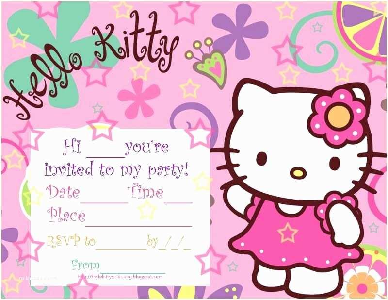 Hello Kitty Baby Shower Invitations Hello Kitty Baby Shower Invitations and Decorations