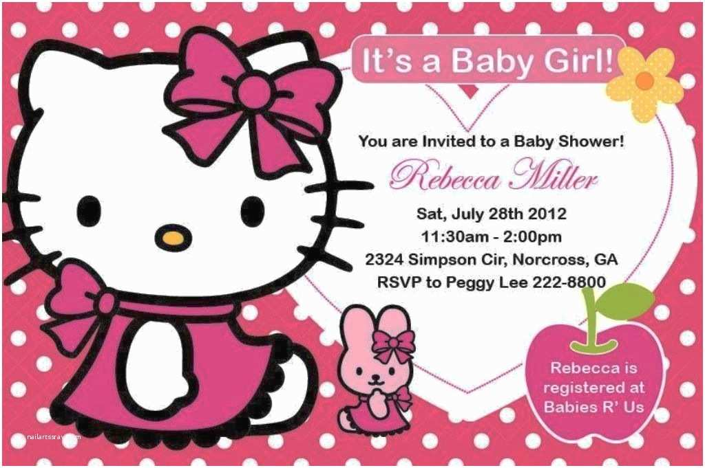 Hello Kitty Baby Shower Invitations Hello Kitty Baby Shower Invitations Charming Hello Kitty