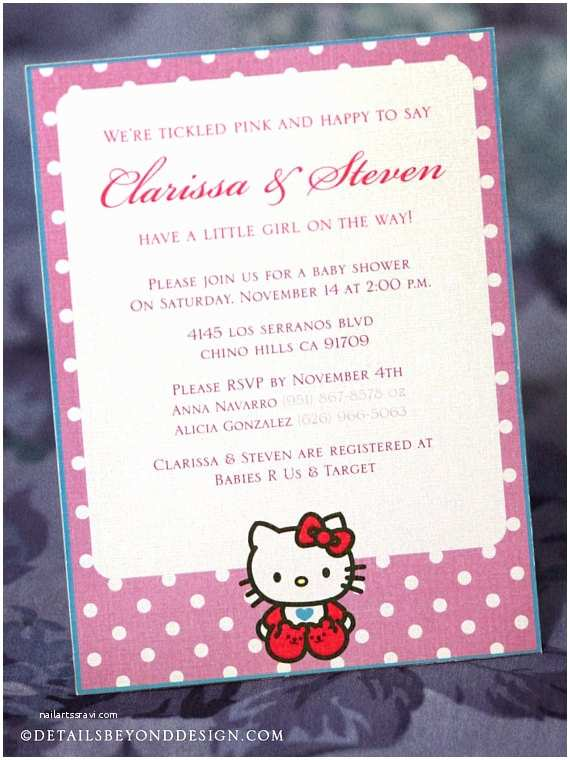 Hello Kitty Baby Shower Invitations Hello Kitty Baby Shower Invitations – Gangcraft