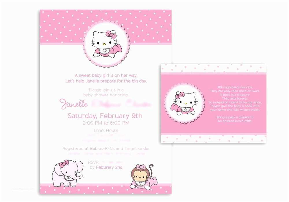 hello kitty invitations for baby shower
