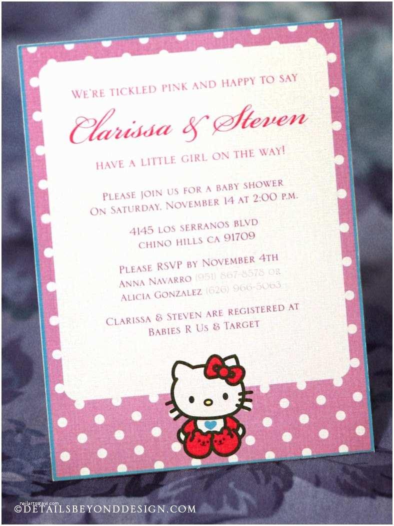 Hello Kitty Baby Shower Invitations Purple Hello Kitty Baby Shower Invitation