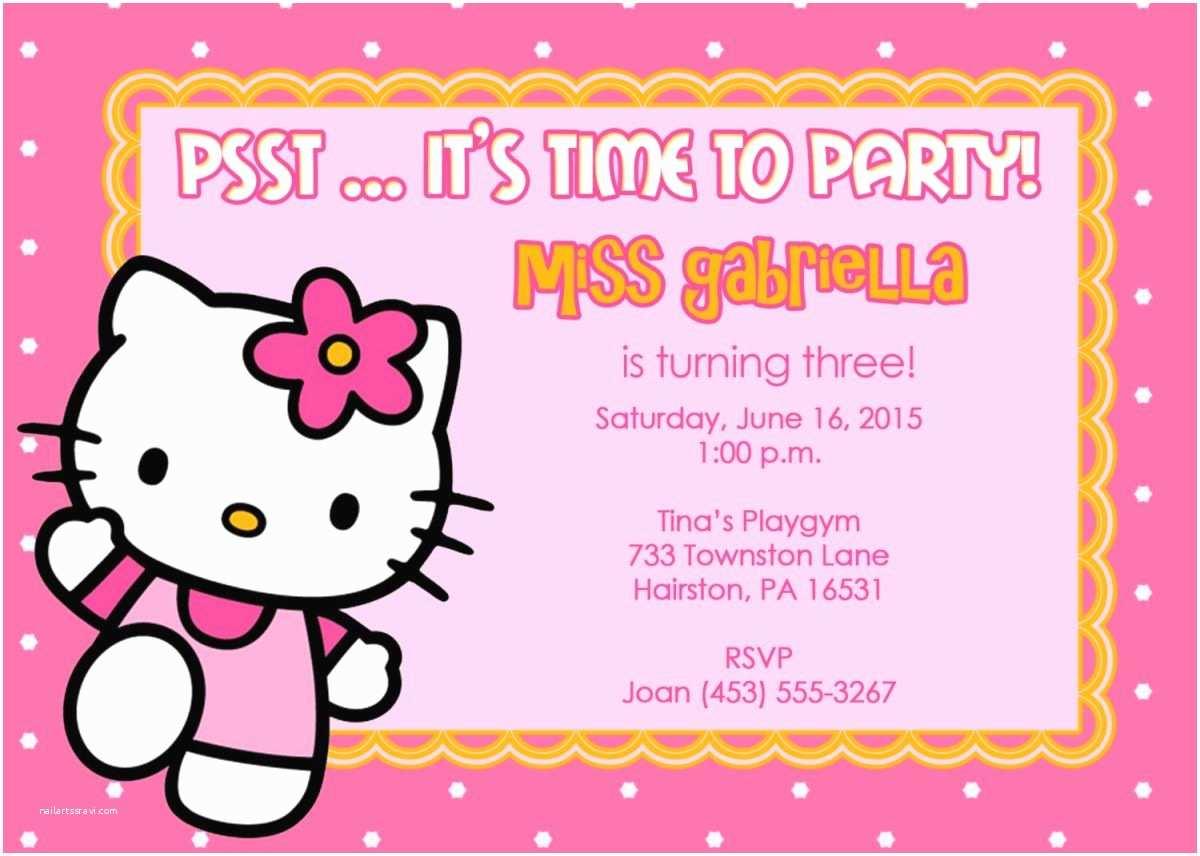 Hello Kitty Birthday Invitations 40th Birthday Ideas Birthday Invitation Templates Hello