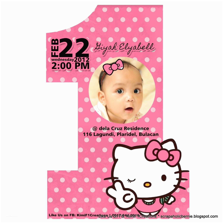 Hello Kitty Birthday Invitations F1 Digital Scrapaholic Hello Kitty 1st Birthday 2 Page