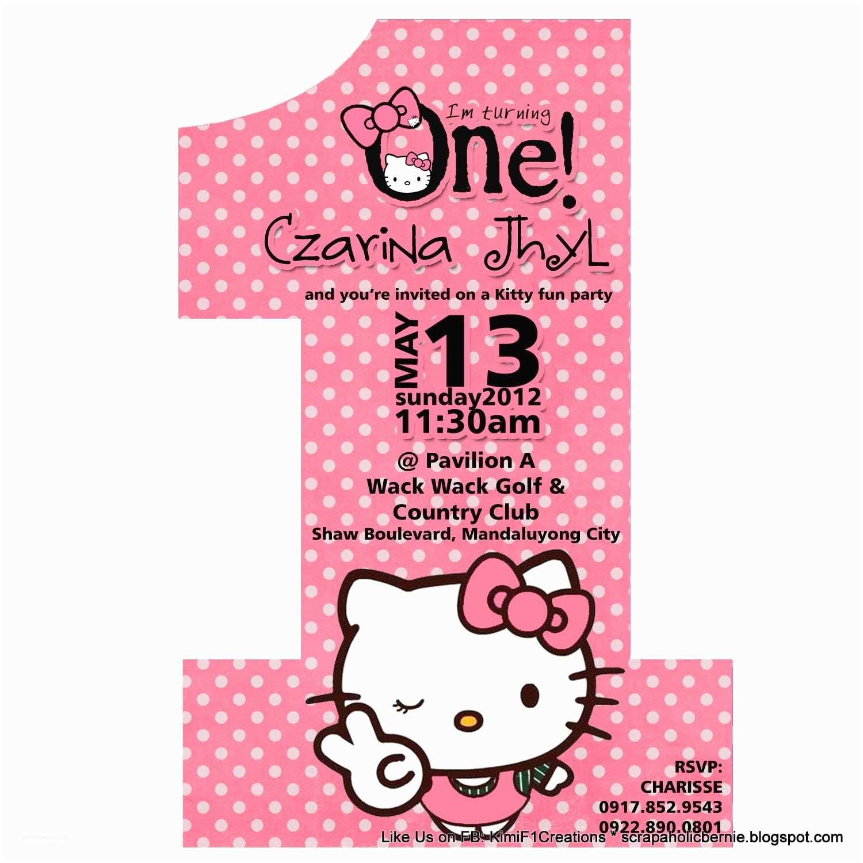 Hello Kitty Birthday Invitations F1 Digital Scrapaholic Hello Kitty E Page No 1 Invites