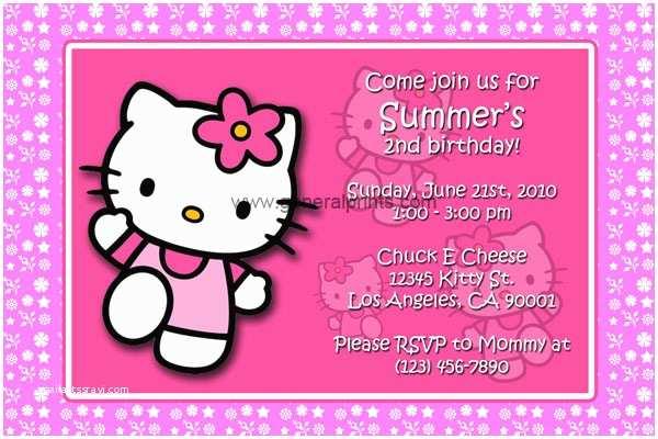Hello Kitty Birthday Invitations Free Hello Kitty Birthday Invitations Downloadable