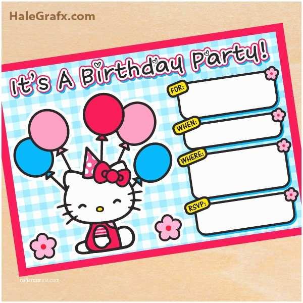 Hello Kitty Birthday Invitations Free Printable Hello Kitty Birthday Invitation
