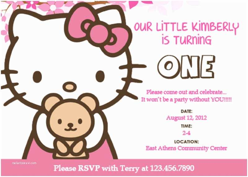 Hello Kitty Birthday Invitations Hello Kitty Invitation Templates – Diabetesmangfo