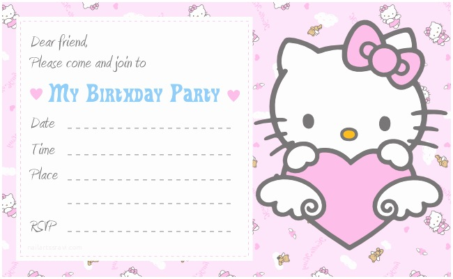 Hello Kitty Birthday Invitations Hello Kitty Printable Birthday Invitations Template