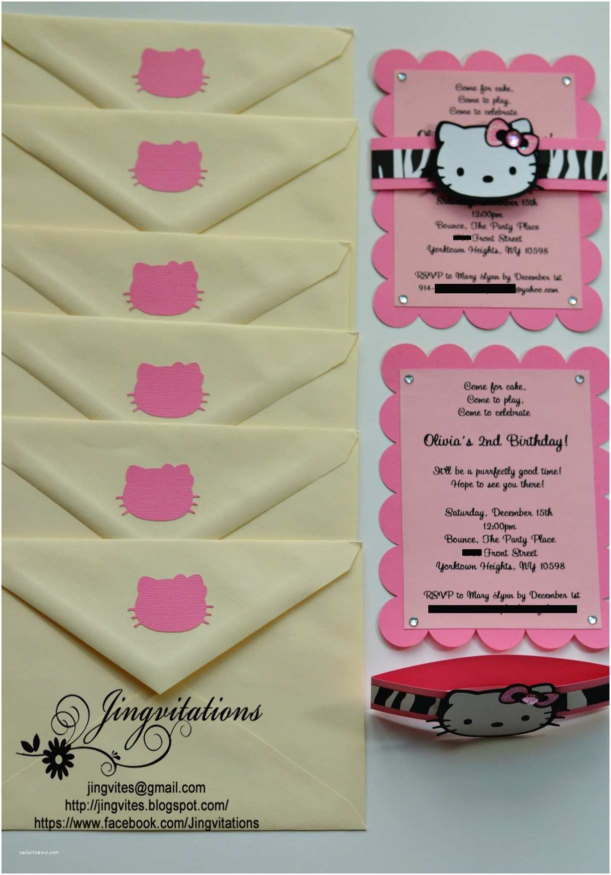 Hello Kitty Birthday Invitations Hello Kitty Safari Invitations