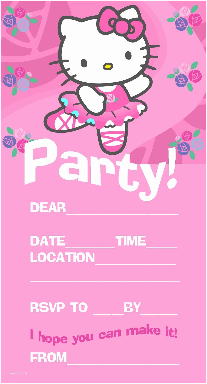 Hello Kitty Birthday Invitations Pretty Practical Mom Free Printable Hello Kitty Invitations