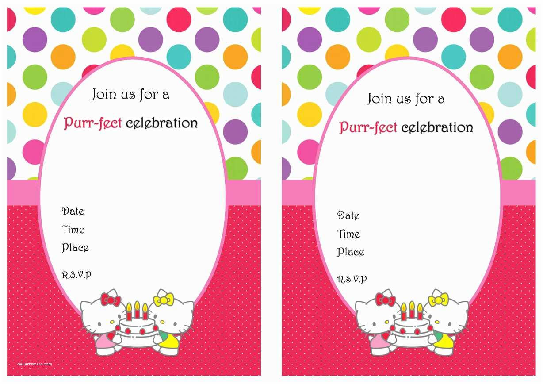 Hello Kitty Birthday Invitations Printable Hello Kitty Birthday Invitations