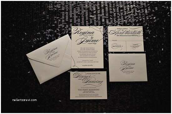 High End Wedding Invitations Best Romantic Weddings Black Tie Wedding Invitations