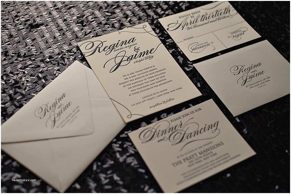 High End Wedding Invitations Crane Lettra Ecru – Jupiter and Juno