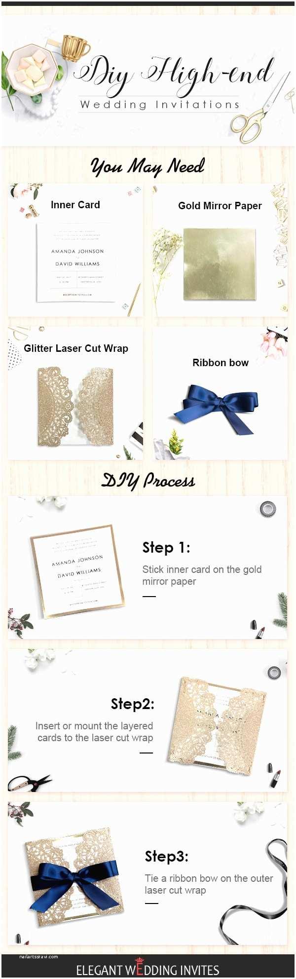 High End Wedding Invitations top 6 Diy Wedding Invitations Ideas by Elegant Wedding