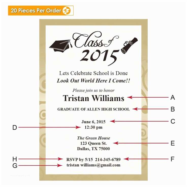 High School Graduation Invitation Wording Best 25 Graduation Announcements Wording Ideas On