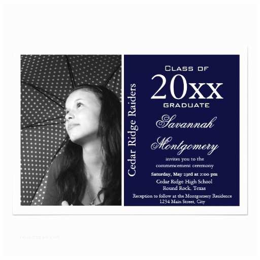 High School Graduation Invitations 2014 High School Graduation Announcements Navy